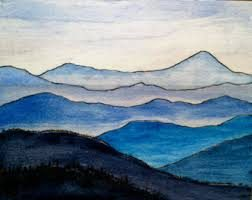 Watercolours: BLUE RIDGE MOUNTAINS