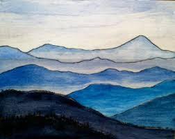 Watercolours: BLUE RIDGE MOUNTAINS