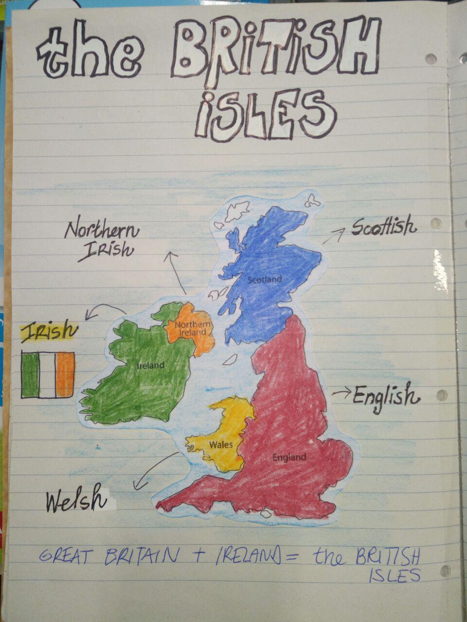 Cartina Inghilterra Per Bambini.The British Isles Clil At Primary School